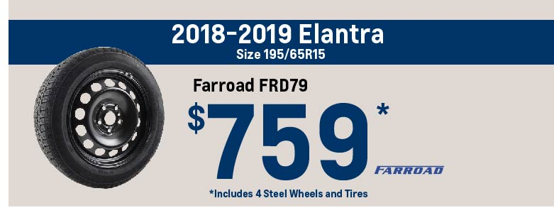 Elantra winter tire package