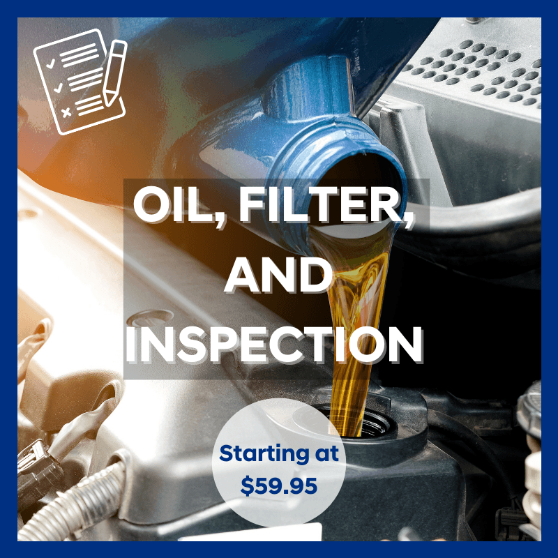OIL, FILTER AND INSPECTION